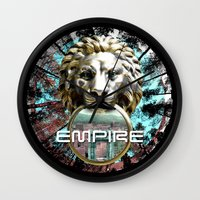 lions Wall Clocks featuring LIONS by infloence