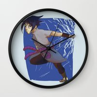 sasuke Wall Clocks featuring Sasuke the Avenger by Michelle Rakar