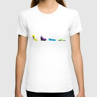 shoes T-shirts featuring Shoes by Kayla Ivey