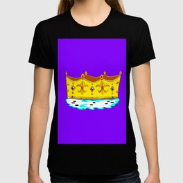 A Gold Crown with Ermine Fur T-shirt
