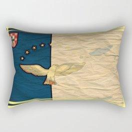 Art flag Azores, Portugal Rectangular Pillow