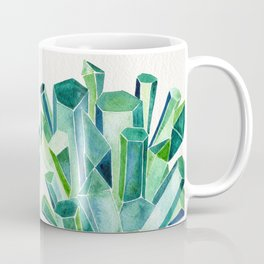 Emerald Watercolor Coffee Mug