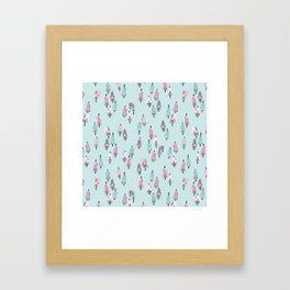 Chasing the Peloton Framed Art Print
