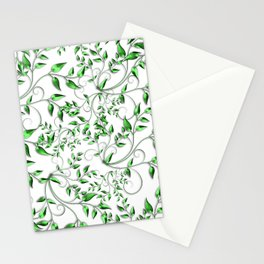 PALM LEAFY GREEN LEAVES Stationery Cards