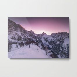 Standing in winter wonderland Metal Print