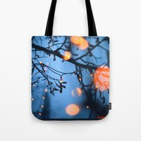 fireflies Tote Bags featuring Fireflies by Den Brooks
