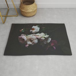 English Roses Still Life - Dark Number Two Rug