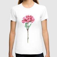 peony T-shirts featuring Peony by Bridget Davidson
