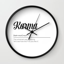 Karma Definition Wall Clock