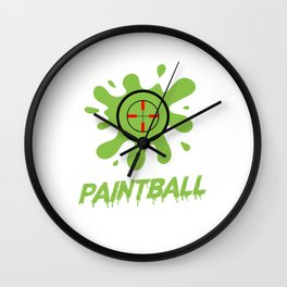 Color Spots Paintball Player Paintball Color Balls Gift Wall Clock