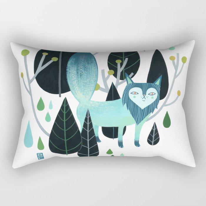 Foxy Forest Rectangular Pillow