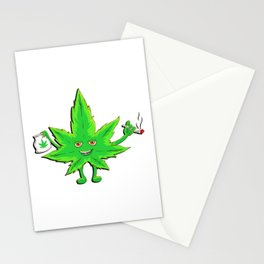 Funny Marijuana Leaf for 420 Weed Smokers Stationery Cards