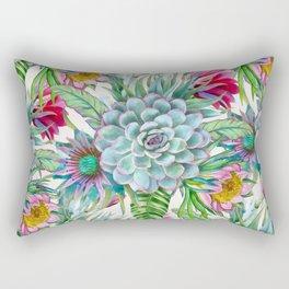 Exotic flower garden Rectangular Pillow