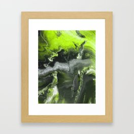Lime Green Lightning Framed Art Print
