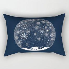 Snow Globe Rectangular Pillow
