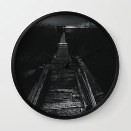 On the wrong side of the lake 2 Wall Clock