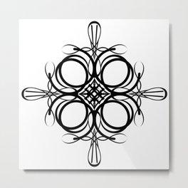 Graphic Black and White Mandala 2 Metal Print