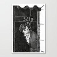221b Canvas Prints featuring 221b by Alessia Pelonzi