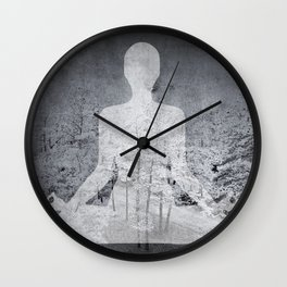 The Hidden Forest Wall Clock