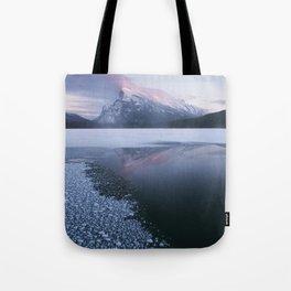 Sunset at Vermillion Lakes Tote Bag