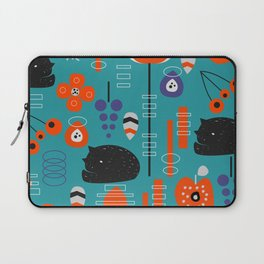 Modern birds and sleepy cats Laptop Sleeve