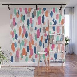 Watercolor Dashes Wall Mural