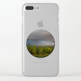 Approaching storm over Australian Landscape Clear iPhone Case