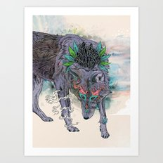 Journeying Spirit (wolf) Art Print