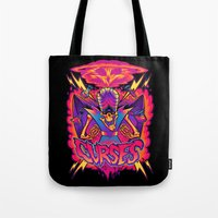 jojo Tote Bags featuring MOJO JOJO: CURSES by BeastWreck