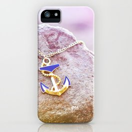 Anchor at the rock iPhone Case