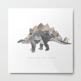 Anxious Dinosaur Metal Print