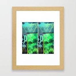 Double banger Framed Art Print
