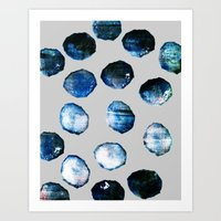 mineral Art Prints featuring mineral 03 by LEEMO