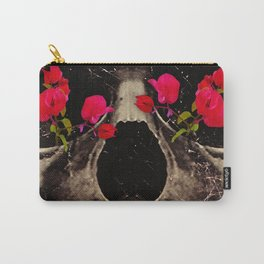 Death and Flowers Carry-All Pouch