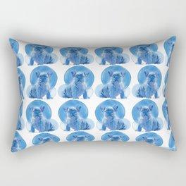 Monochromatic French Bulldog Rectangular Pillow