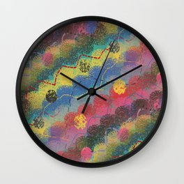 rolling hills abstract landscape Wall Clock