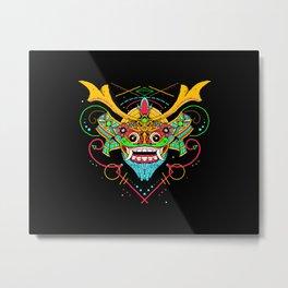 SAMURAI BARONG Metal Print
