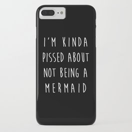Not Being A Mermaid Funny Quote iPhone Case