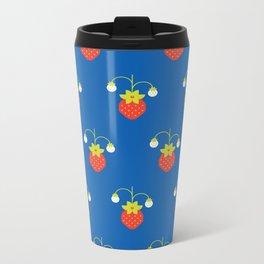 Fruit: Strawberry Metal Travel Mug