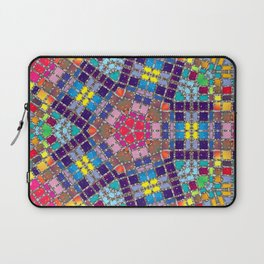Gemstones and Metal Pentagon Pattern Laptop Sleeve
