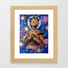 Joan of Arc, She's more than a lady Framed Art Print