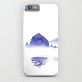 Haystack Rock watercolor iPhone Case