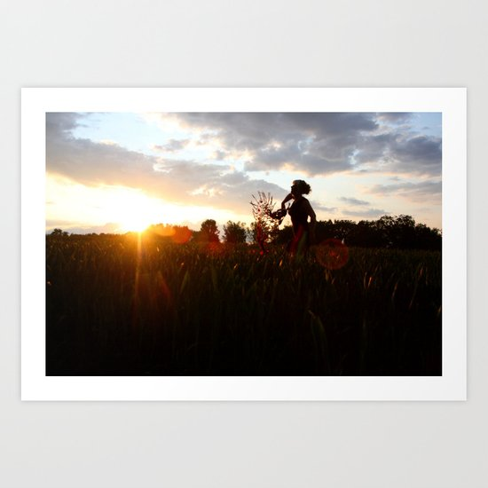 The sun's on my side, take me for a ride, I smile up to the sky, I know I'll be alright ...... Art Print