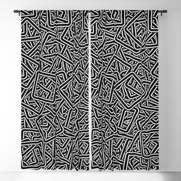 Smooth Square Group ( Beautiful Graphic Art Fashion ) Blackout Curtain