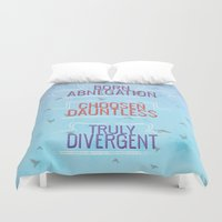 divergent Duvet Covers featuring Truly Divergent by Tiffany 10