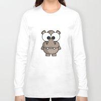 hippo Long Sleeve T-shirts featuring Hippo by binbinrobin