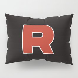 team rocket fan club (black) Pillow Sham