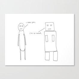 I'm a Robot Canvas Print