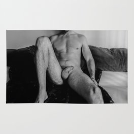 Relaxed Male Nude Rug