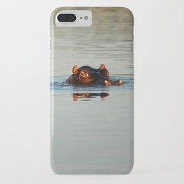 Cute Hippo Bathing iPhone Case